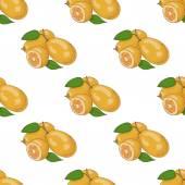 Seamless pattern with kumquat — Stock Vector