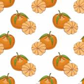 Seamless pattern with Clementine — Stock Vector