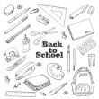 Back to school - set of objects in sketch style — Stock Vector #82188572