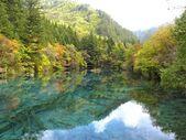 Autumn in Jiuzhiagou National Park in Sichuan China — Stock Photo