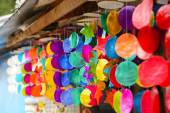 Colourful wind chime — Stock Photo