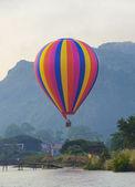 Hot air balloon at Vang Vieng, Laos — Stock Photo