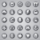 Vector set icons, industrial and transport icons, vector design — Stock Vector