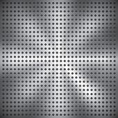 Holey metal surface, vector texture — Stock Vector