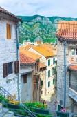 The backstreets of Kotor — Stockfoto