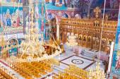 The wooden iconostasis — Stock Photo