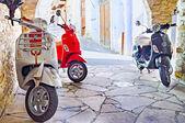 The scooter parking — Foto de Stock