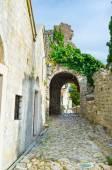 The medieval street — Stock Photo