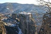 Winter landscape of Meteora — Foto Stock