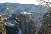 Winter landscape of Meteora — Stock fotografie