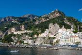 The rock of Amalfi — Стоковое фото