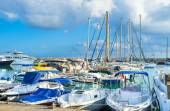 The harbor of Latchi — Stockfoto