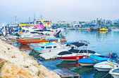 The colorful boats — Stock Photo