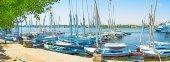 Панорама порта — Стоковое фото