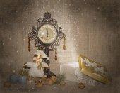 Snow gift — Stock Photo