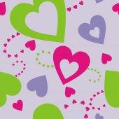 Corações em um fundo lilás — Vetor de Stock