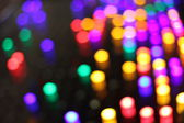 Blurred lights in the dark — Stock Photo