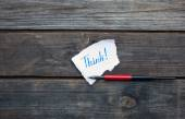 Think hand written on paper piece — Stock Photo