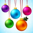 Set of five Christmas balls — Stok Vektör #57023005