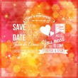 Save the date for personal holiday. Wedding invitation. — Stock Vector #57022541