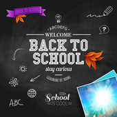 Vintage back to school card. — Stock Vector
