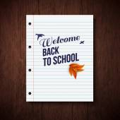 Back to school card. — Vettoriale Stock