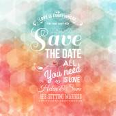 Save the date,  Wedding invitation. — Stock Vector