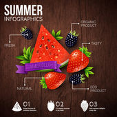 Abstract summer infographics — Stock Vector