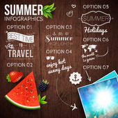 Abstract summer infographics poster — Stock Vector