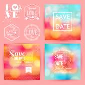 Save the date for personal holiday cards. — Stock Vector