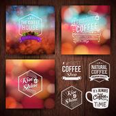 Premium coffee advertising posters — Stock Vector