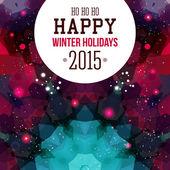 Happy winter hollidays Card. — Stock Vector