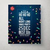 Winter hollidays  party poster. — Stock Vector