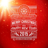 Christmas typography for winter holidays design. — Stock Vector