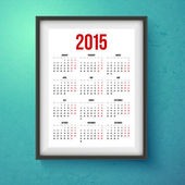 2015 year calender. — Stock Vector