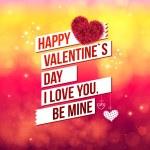 Attractive Happy Valentines Day Concept — Stock Vector #62115939