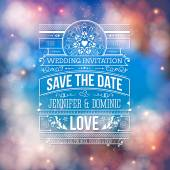 Wedding Concept - Save the Date Artistic Design — Stock Vector