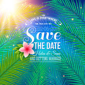 Save the Date Concept with Nature Style — Stock Vector