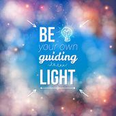 Be Your Own Guiding Light Concept — Stok Vektör