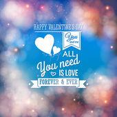 Valentine typography design. — Stock Vector