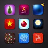 Set of icons stylized like mobile app — Cтоковый вектор