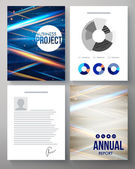 Vector template for a business project and report — Vector de stock
