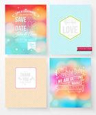 Set of wedding invitation templates — Vector de stock