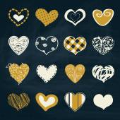 Artistic collection of hearts in assorted designs — Stock Vector