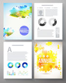Colorful creative template for a company project — Stock Vector