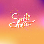 Glowing Text Design for Smile More Concept — Stock Vector