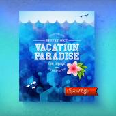 Special offer for a Vacation Paradise cruise — Vector de stock