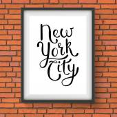 Simple New York City Concept on a Hanging Frame — Stock Vector