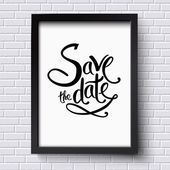 Conceptual Save the Date Texts on a Frame — Stock Vector