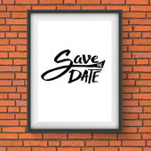 Black Text Design for Save the Date Concept — Stock Vector